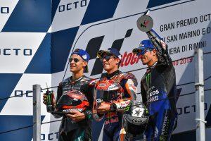 MotoGP | 最終ラップで勝利をさらったマルケス「イギリスGPとは戦略を変えた」/MotoGP第13戦サンマリノGP 決勝トップ3コメント