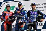 優勝したフェラーリと2位のガルソ、3位のシメオン