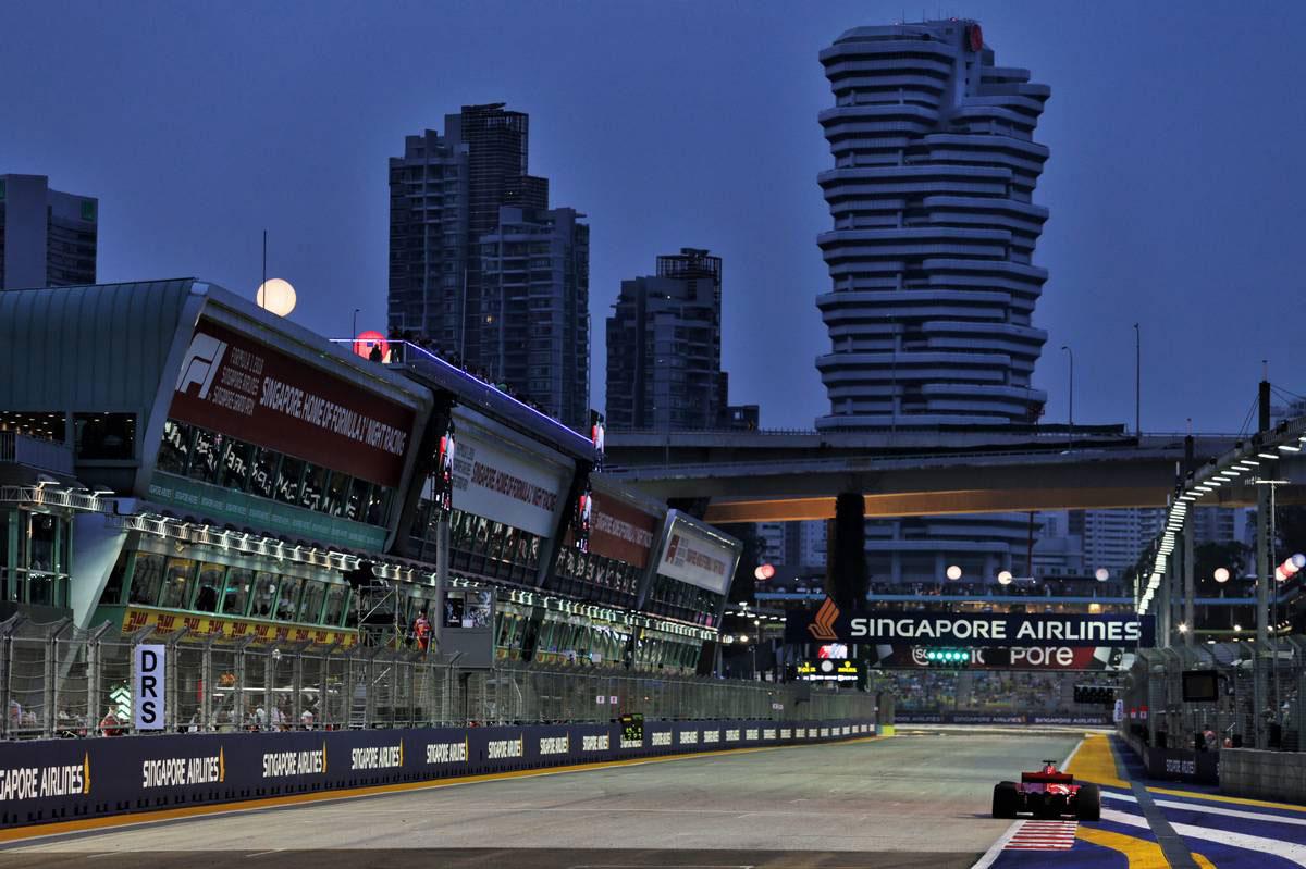 2018年F1第15戦シンガポールGP セバスチャン・ベッテル(フェラーリ)