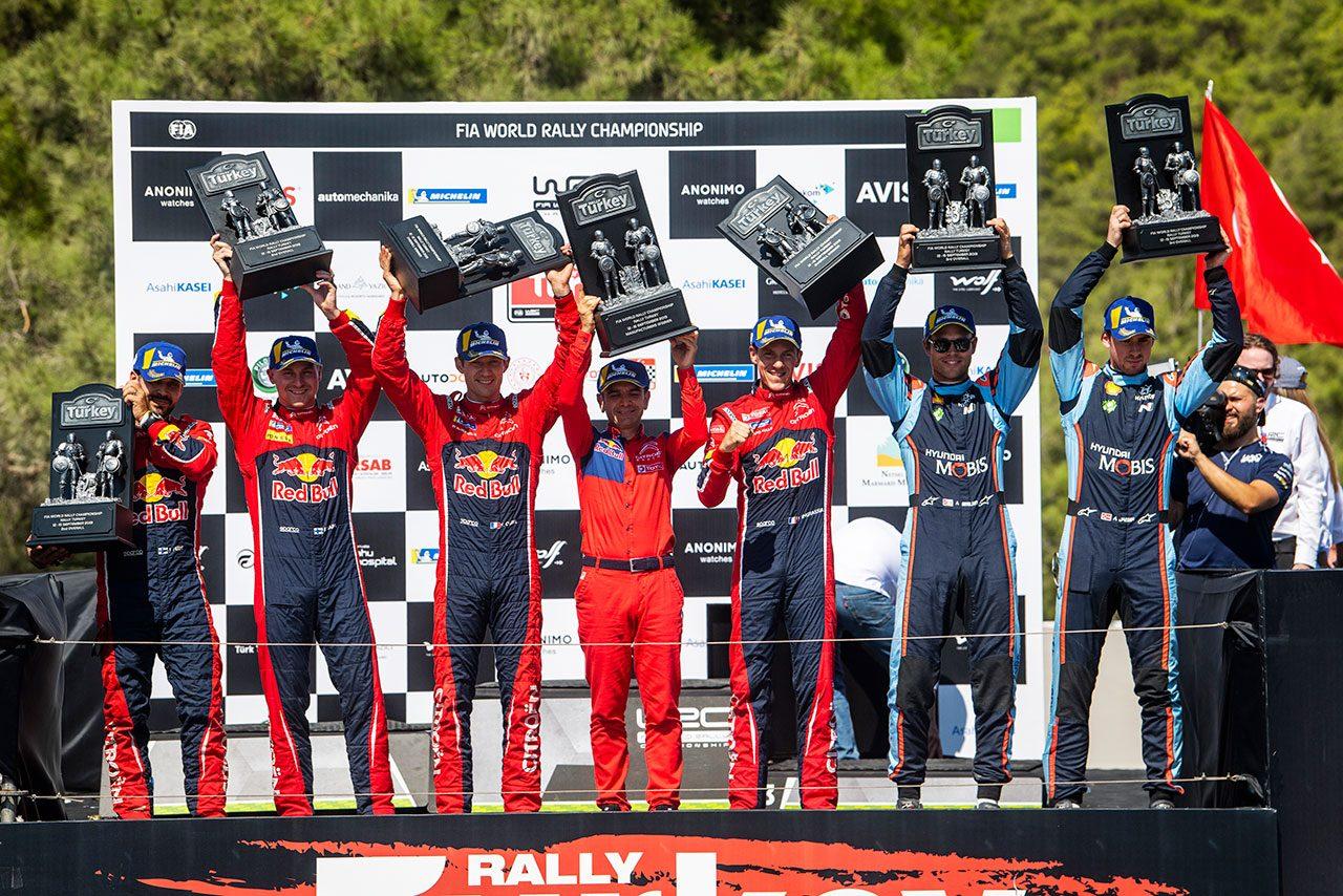 2019WRC第11戦トルコ 表彰台