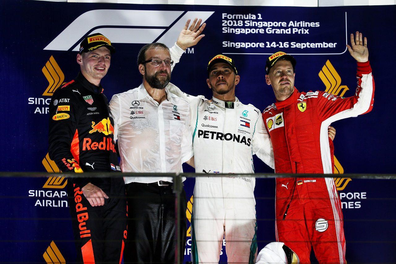 2018年F1シンガポールGP表彰台