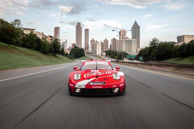 ポイントランキング首位で最終戦ロード・アトランタ10時間に臨むポルシェGTチームの911号車ポルシェ911 RSR