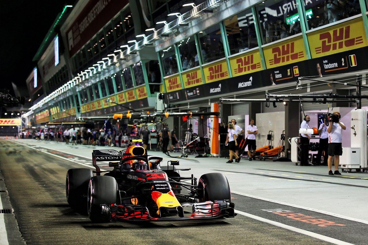 2018年F1シンガポールGP マックス・フェルスタッペン(レッドブル)