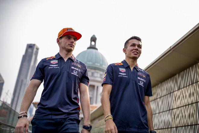 2019年F1第15戦シンガポールGP マックス・フェルスタッペン、アレクサンダー・アルボン