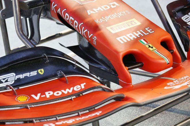 F1   フェラーリがアップデート版ノーズをテスト。「新パーツはうまく機能している」とベッテル:F1シンガポールGP