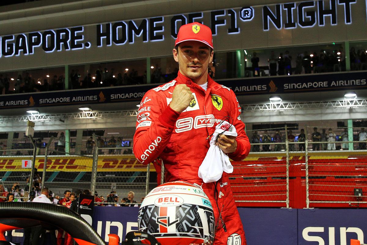 F1   F1シンガポールGP予選:覚醒したルクレールがポールポジション奪取。レッドブル・ホンダはライバル勢に及ばず