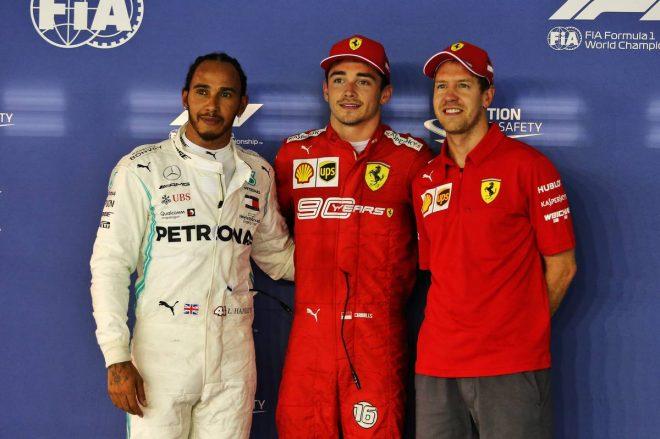 2019年F1第15戦シンガポールGP予選 PP:シャルル・ルクレール、2番手:ルイス・ハミルトン、3番手:セバスチャン・ベッテル