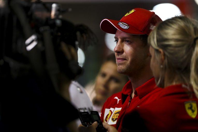 F1   フェラーリF1のベッテルは予選3番手「ポールを逃したのは残念だが決勝に期待。ロングラン改善の兆候をつかんでいる」