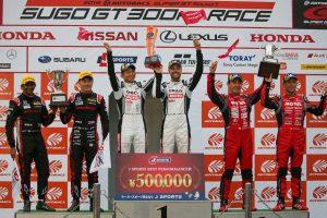 スーパーGT | 2019スーパーGT第7戦SUGO GT500クラス表彰台