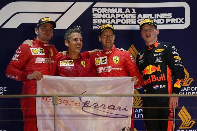 2019年F1第15戦シンガポールGP 優勝はセバスチャン・ベッテル、2位シャルル・ルクレール、3位マックス・フェルスタッペン