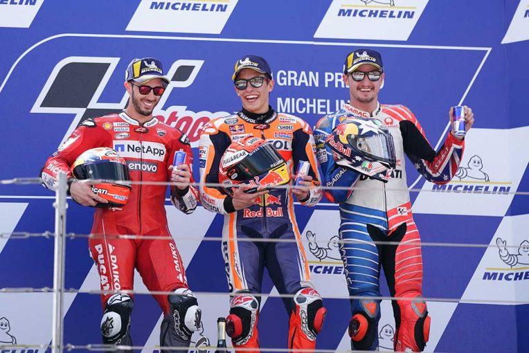 MotoGP | タイトル獲得に前進のマルケス「パーフェクトな週末だった」/MotoGP第14戦アラゴンGP 決勝トップ3コメント