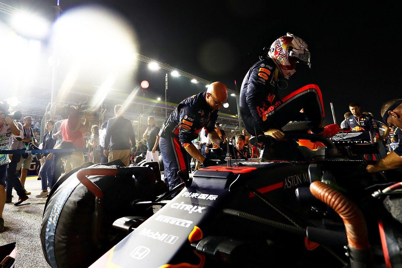 2019年F1第15戦シンガポールGP日曜 マックス・フェルスタッペン(レッドブル・ホンダ)