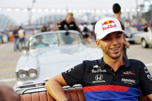 F1 | ガスリー8位入賞「一時は2番手、バトルを楽しんだ」。チーム代表も称賛のコメント:トロロッソ・ホンダ F1シンガポールGP