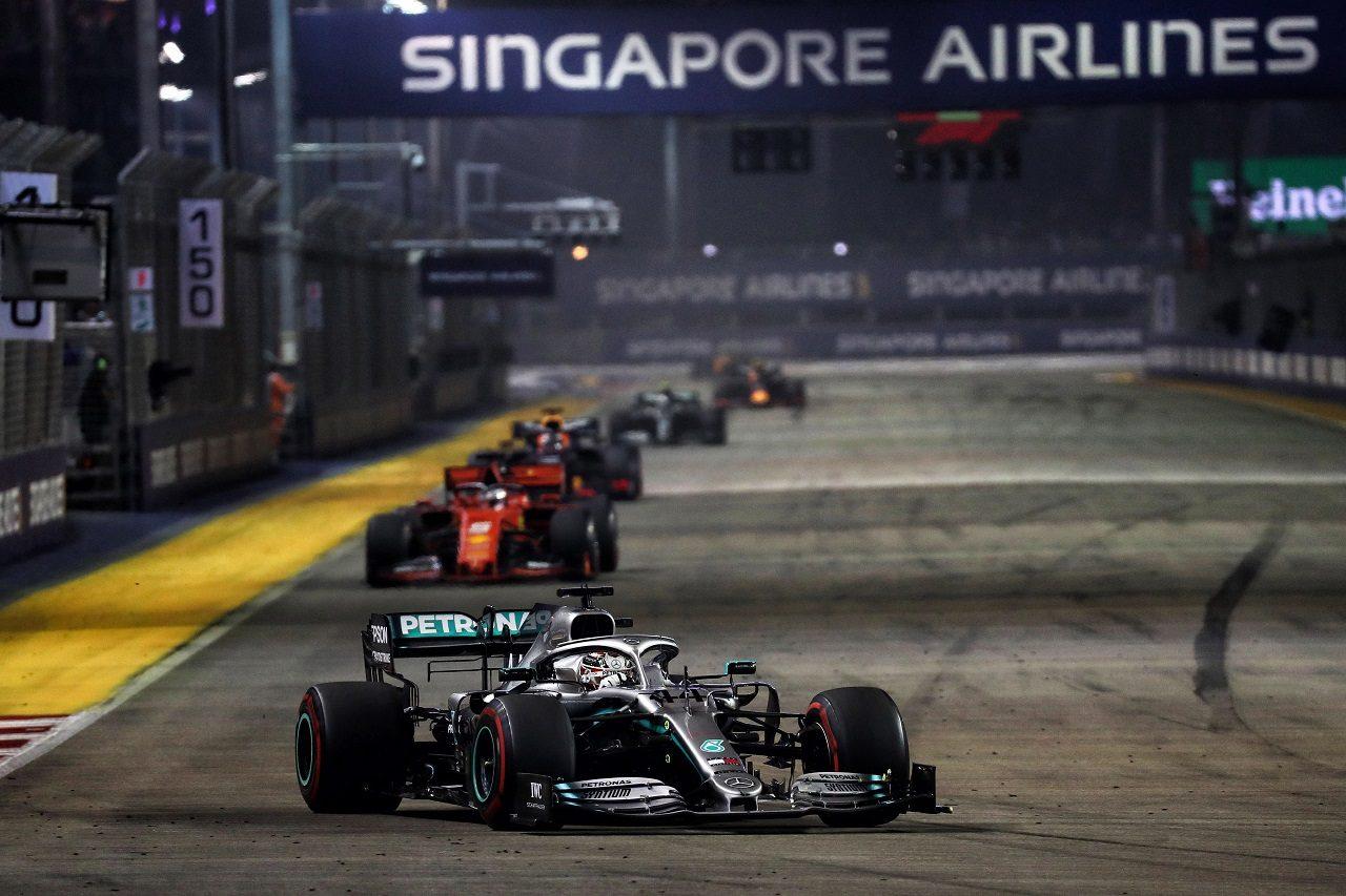 2019年F1第15戦シンガポールGP日曜 ルイス・ハミルトン(メルセデス)