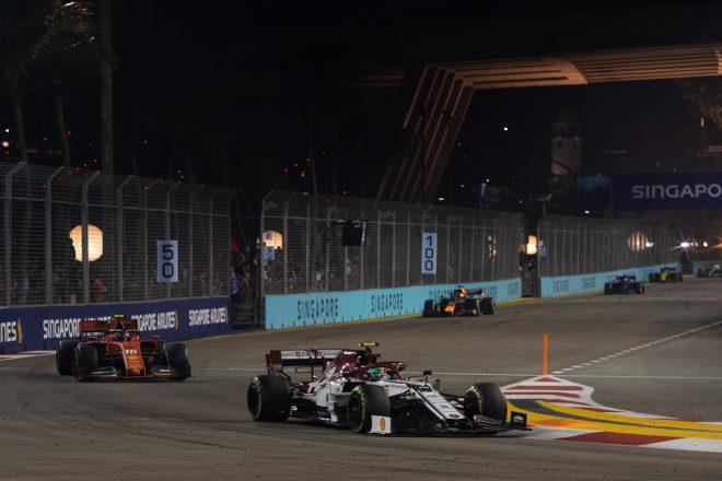 2019年F1第15戦シンガポールGP アントニオ・ジョビナッツィ(アルファロメオ)
