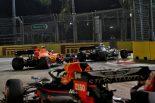 2019年F1第15戦シンガポールGP ルイス・ハミルトン(メルセデス)、セバスチャン・ベッテル(フェラーリ)、マックス・フェルスタッペン(レッドブル・ホンダ)