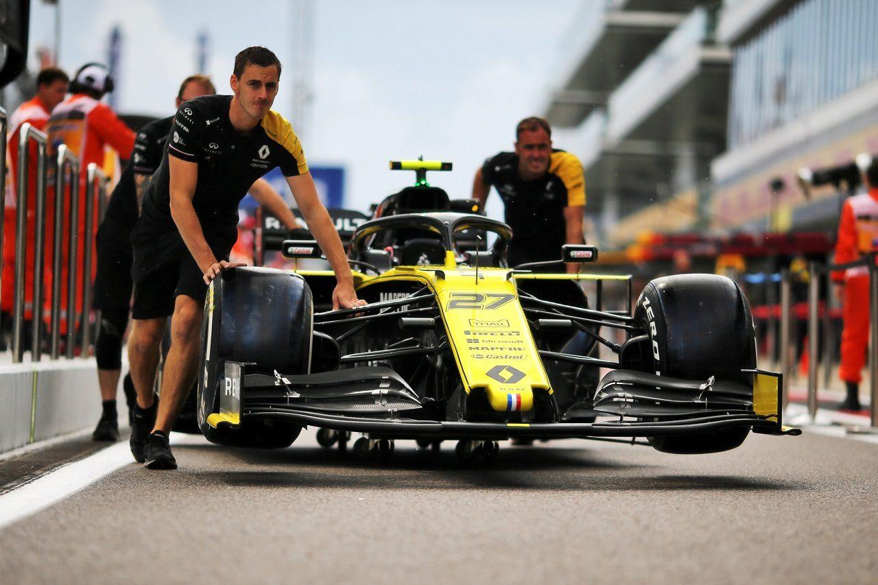 2019年F1第16戦ロシアGP木曜 ニコ・ヒュルケンベルグのルノーR.S.19