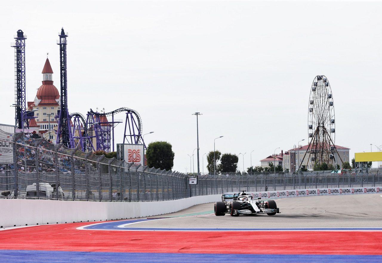2019年F1第16戦ロシアGP金曜 ルイス・ハミルトン(メルセデスF1 W10)