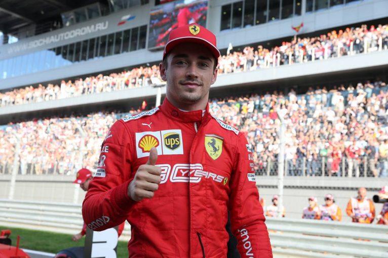 F1 | F1ロシアGP予選:ルクレールがライバルを圧倒し4戦連続ポール獲得。レッドブル・ホンダのアルボンは痛恨のクラッシュ