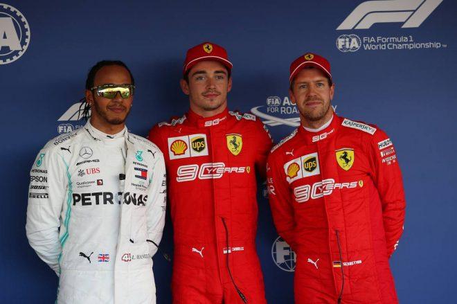 2019年F1第16戦ロシアGP予選 PP:シャルル・ルクレール、2番手ルイス・ハミルトン、3番手セバスチャン・ベッテル