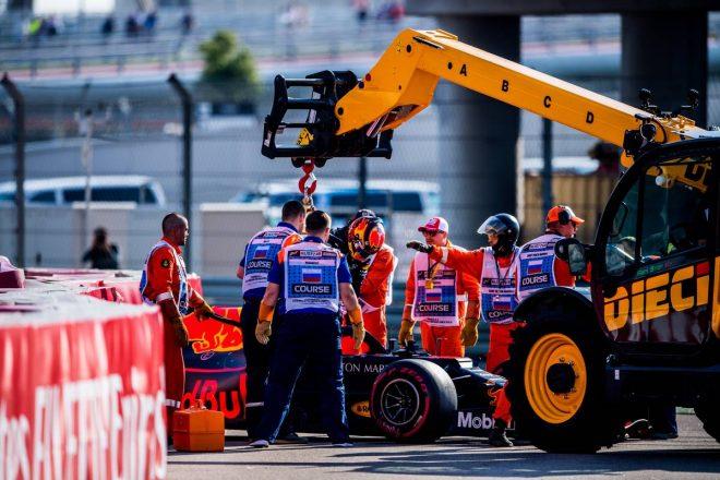 2019年F1第16戦ロシアGP予選Q1でクラッシュしてしまったアレクサンダー・アルボン