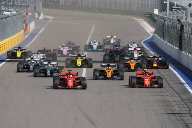 2019年F1第16戦ロシアGP決勝スタートシーン