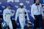 2019年F1第16戦ロシアGP 優勝したルイス・ハミルトンと2位のバルテリ・ボッタス