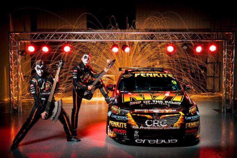 海外レース他   オーストラリア・スーパーカーの有力チームがロックバンド『KISS』とコラボした新カラー発表