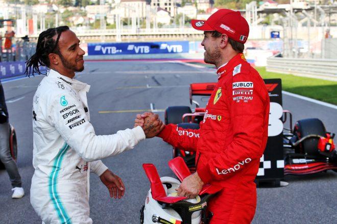 2019年F1ロシアGP ルイス・ハミルトンとセバスチャン・ベッテル