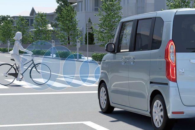 Honda SENSINGは衝突軽減ブレーキは横断自転車に対応