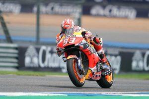 MotoGP | マルケスが激しく転倒、メディカルセンターへ/【タイム結果】2019MotoGP第15戦タイGPフリー走行1回目