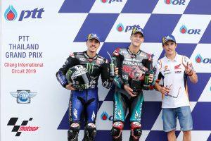 MotoGP | 転倒で予選3番手のマルケス「朝、ベッドから出るのが大変だった」/MotoGP第15戦タイGP 予選トップ3コメント