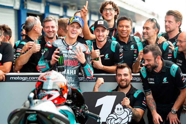 MotoGP   MotoGPタイGP:戴冠の可能性高まるマルケス、予選アタック中に再び転倒。ポール獲得はクアルタラロ