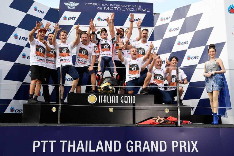 MotoGP | タイトルを決めたマルケス、ルーキーを称賛「ファビオはとても速かった」/MotoGP第15戦タイGP 決勝トップ3コメント