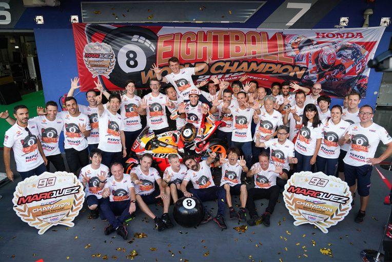 MotoGP | ホンダ八郷社長、通算8度目のチャンピオン決めたマルケスに「感謝の気持ちを伝えたい」
