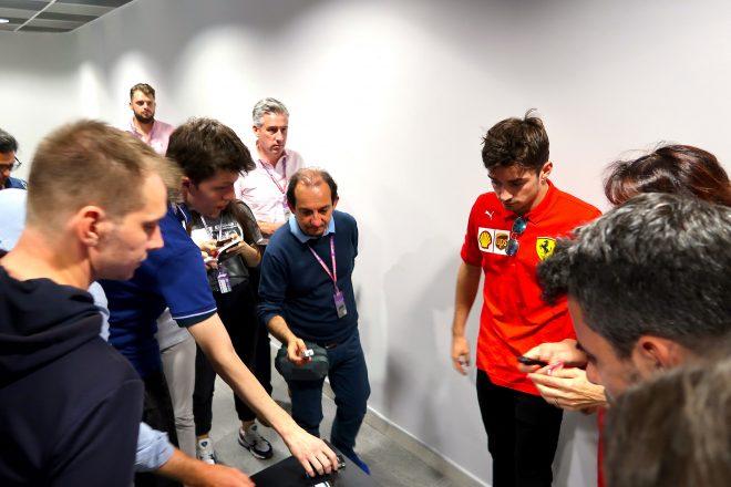 2019年F1第16戦ロシアGP まずルクレールだけが会見場に到着