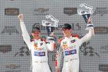 2018年IMSA第9戦ロード・アトランタで、前戦モスポートに続く2連勝を達成したコア・オートスポーツのジョナサン・ベネット(左)とコリン・ブラウン(右)