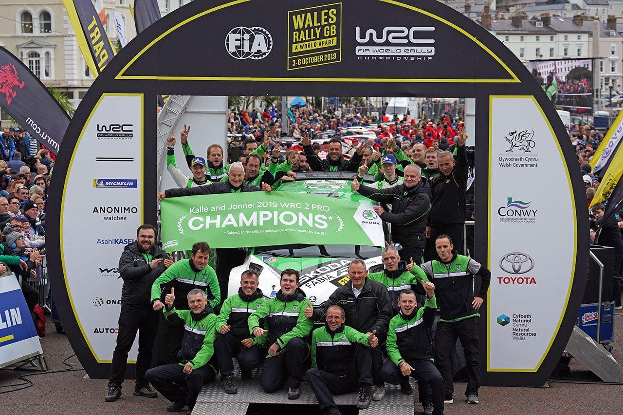 2019年のWRC第12戦ラリーGBを制したカッレ・ロバンペラ
