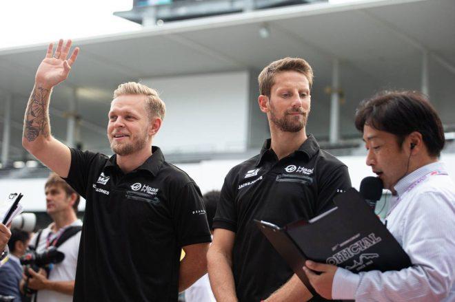 2019年F1第17戦日本GP ロマン・グロージャン、ケビン・マグヌッセン(ハース)