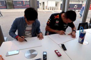 F1 | 【ブログ】鈴鹿初挑戦のアルボンに福住仁嶺がコース攻略法を伝授/F1日本GP現地情報(1)