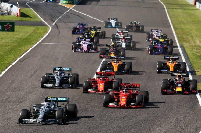 2019年F1第17戦日本GP決勝レーススタート