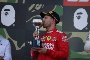 F1 | ポールのベッテルは2位にとどまる。ジャンプスタートのペナルティは「許容範囲」で取られず:フェラーリ F1日本GP
