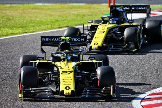 2019年F1第17戦日本GP ニコ・ヒュルケンベルグとダニエル・リカルド(ルノー)