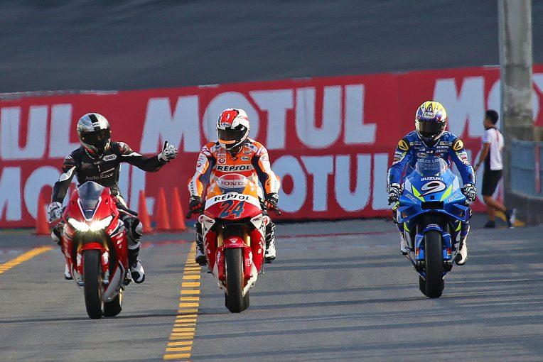 MotoGP | 青木拓磨がレプソルカラーのホンダRC213V-Sを駆る。26年ぶりに3兄弟揃って走行/MotoGP日本GP