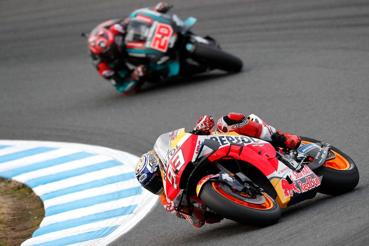 MotoGP日本GP:マルケスのポール・トゥ・ウインでホンダがコンストラクターズタイトルを獲得。中上は16位完走果たす