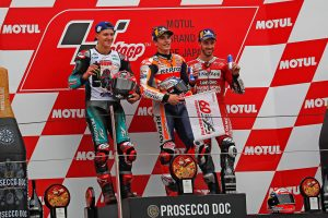 MotoGP | 序盤のプッシュでガス欠寸前。マルケス「キープして最後まで走り切った」/MotoGP日本GP 決勝トップ3コメント