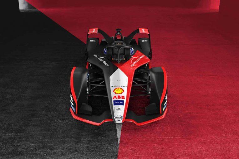 """海外レース他   フォーミュラE:イメージは""""着物""""。ニッサンが2019/20年シーズンのマシンカラーリングを公開"""