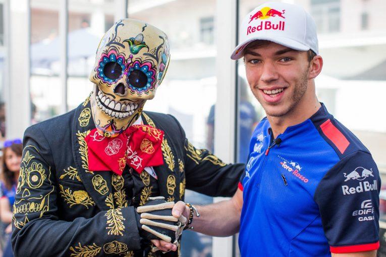 F1   トロロッソ・ホンダF1のガスリー、2年連続最後尾スタートの「ツキがないメキシコ」で入賞を狙う