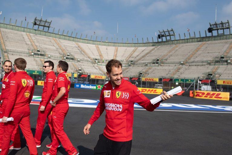 F1 | 「優勝争いのライバルはレッドブル・ホンダ」。フェラーリのベッテル、F1メキシコGPでの接戦を予想
