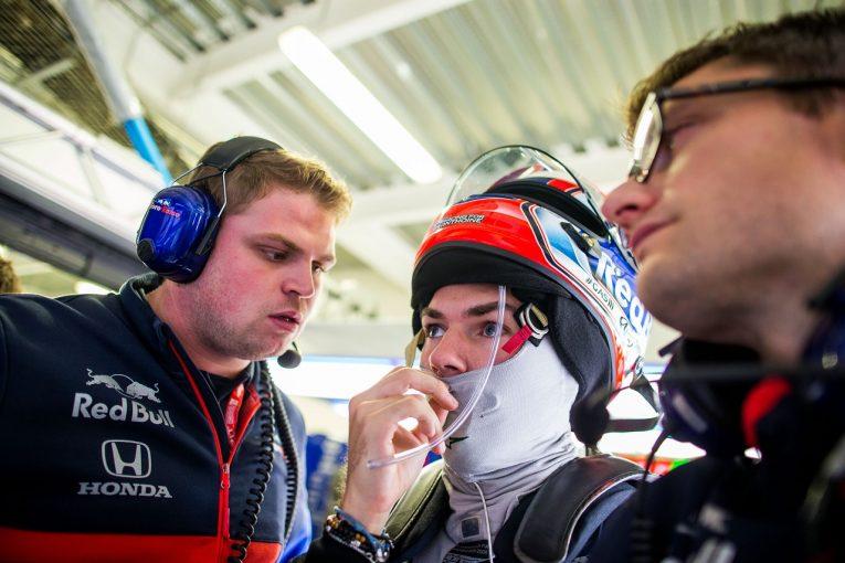 F1   ガスリー、ミディアムタイヤで7番手「金曜から速さを発揮できた。予選に向けてさらに改善を進める」:トロロッソ・ホンダF1